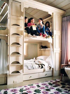 hollywood cape cod built in bunk beds. Black Bedroom Furniture Sets. Home Design Ideas