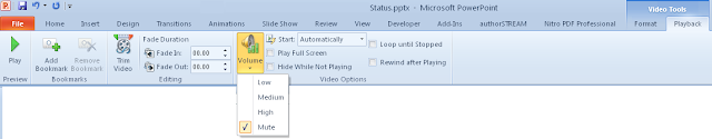 Video PowerPoint mute