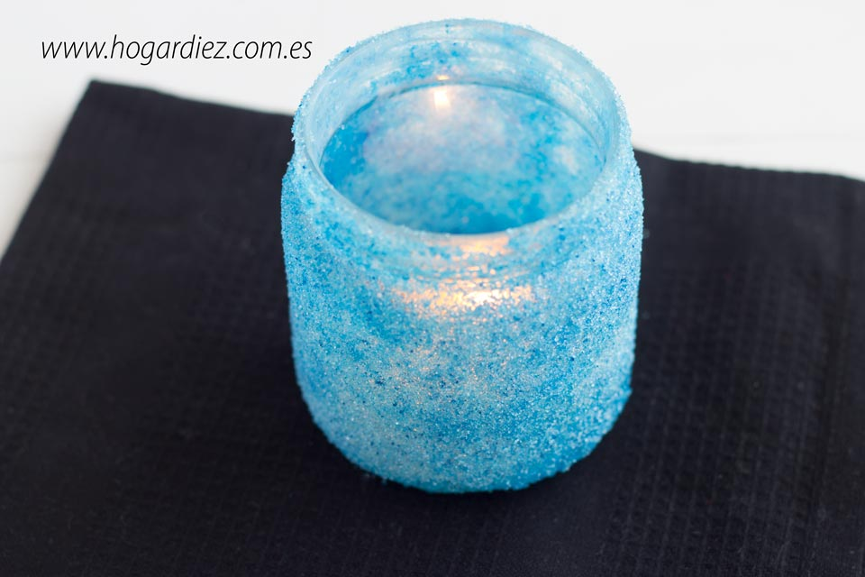 Portavelas DIY de cristal