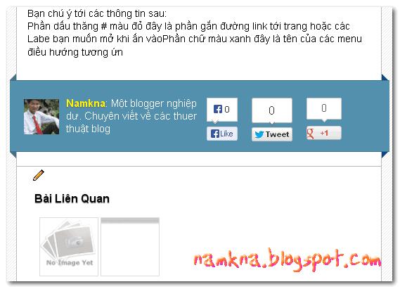 Khung Author box có nút like cho blogger ves 2