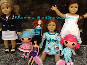 I follow American Girl and Other Awesomeness!!! Awesome award made by Nina!
