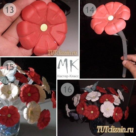 Как сделать цветы своими руками из пластиковых бутылок