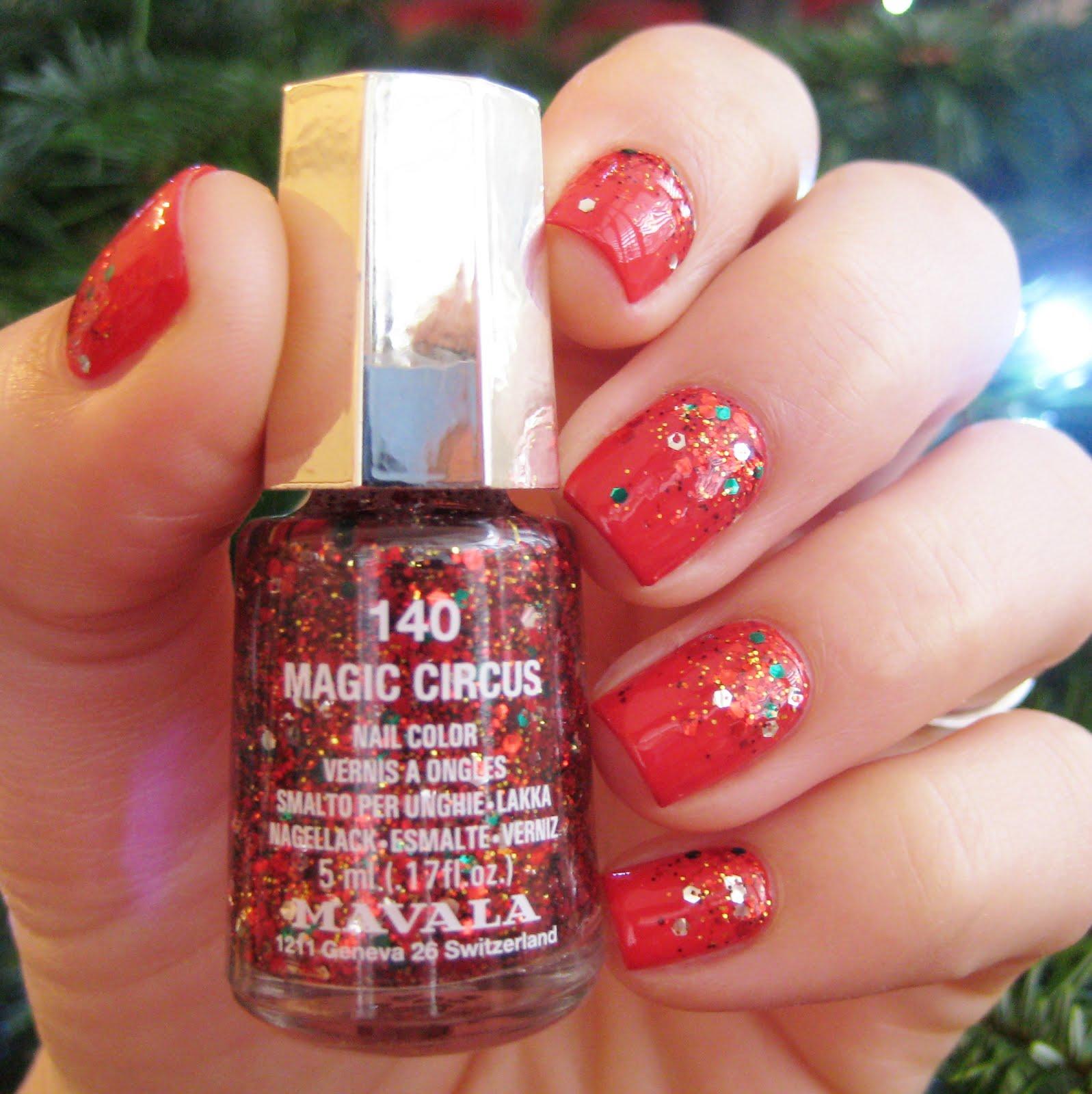 Dahlia Nails: Mavala Christmas Baubles