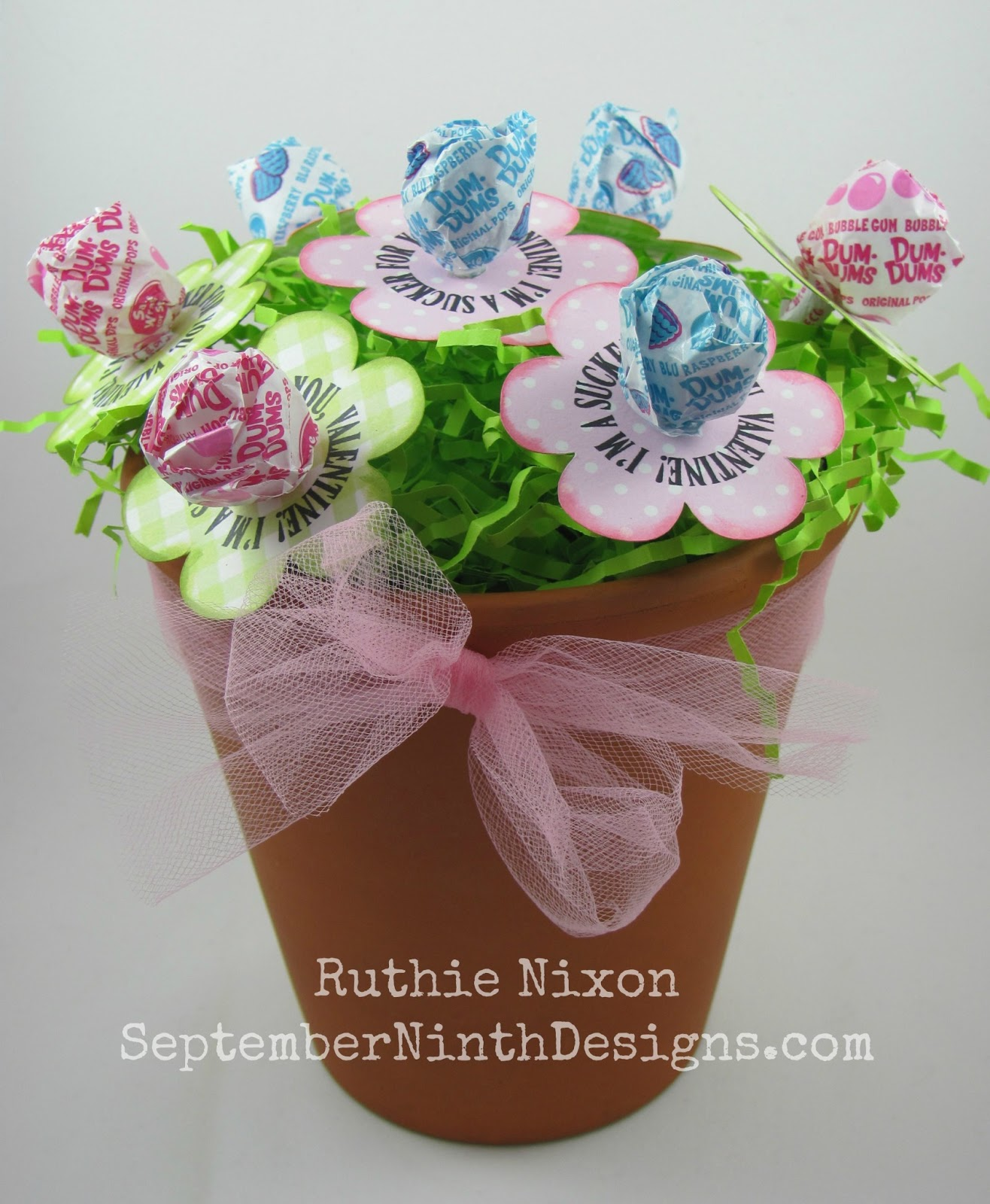 September ninth designs candy flower treats be fun to spend the week sharing some fun valentines treat ideas todays treat is cute inexpensive and a perfect craft that kids can help make izmirmasajfo