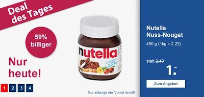 450 Gramm Nutella bei Schlecker für 1 Euro