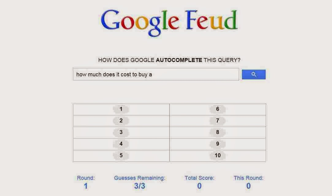 Google Feud a Game Based  on google API