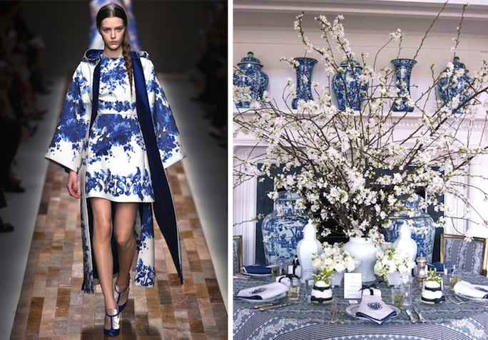 blue and white Valentino