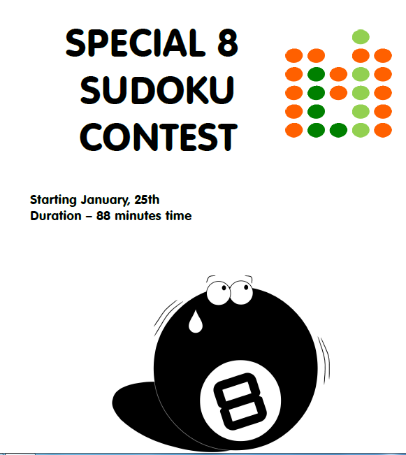 LMI Sodoku Test: Speical 8 on 25-27 Jan 2014