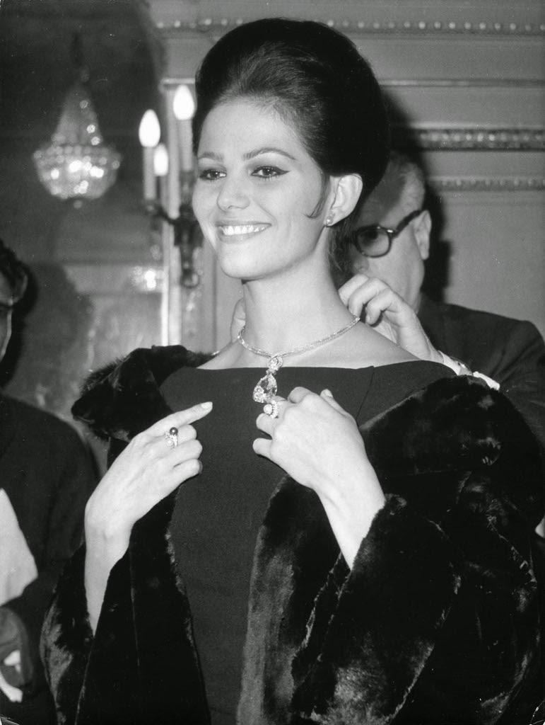 Claudia Cardinale Paris 1962 for Bulgari