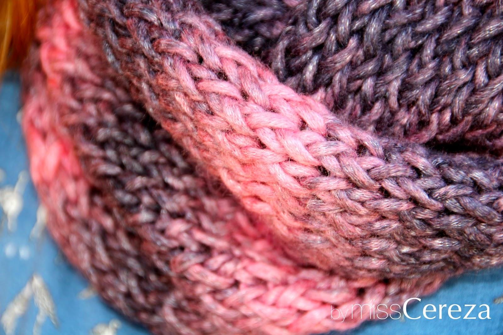 DIY bufanda rosa y gris