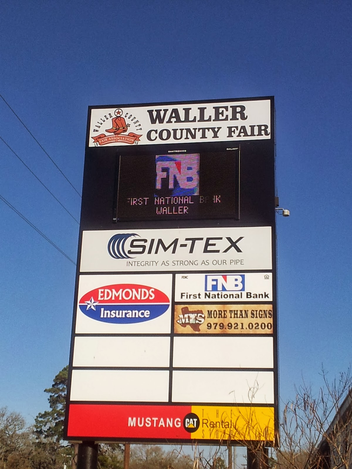 Sign for Waller County Fairgrounds