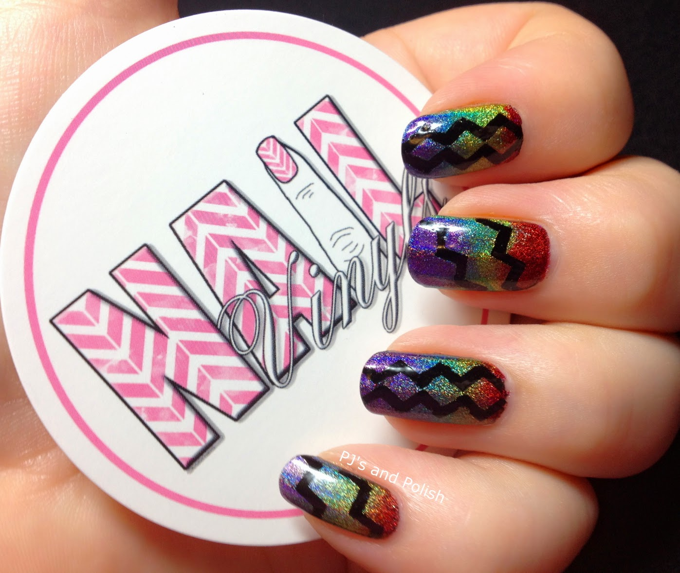 Twin Mani Rainbow Nails Nail Vinyls Colors Frenzy Skinny Chevron FingerPaints Black Expressionism The Mighty Red Baron Woodstock Good Fortune and True Colors HK Girl Duri Rejuvacote