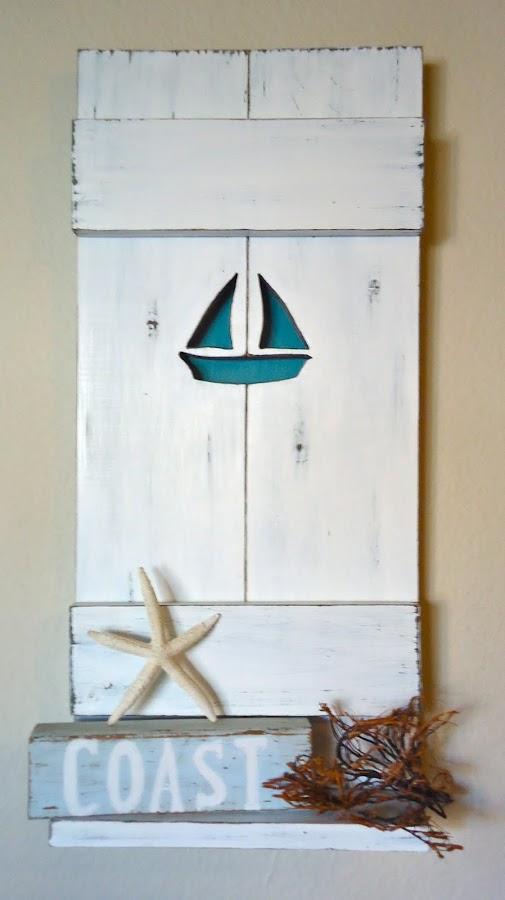 Nautical Sailboat Shelf - Available $65.00