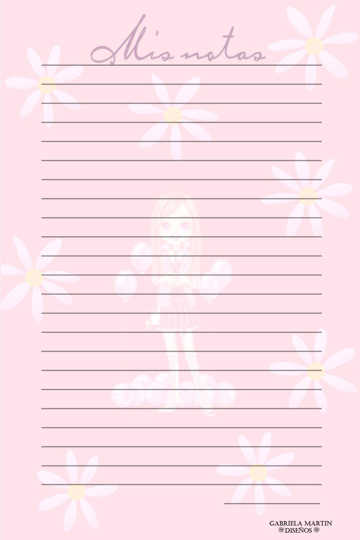 Hojas de libreta para imprimir imagui for Paginas decoradas