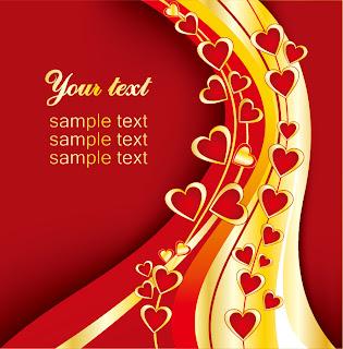 バレンタインデーの美しい背景 3 beautiful valentine day vector elements イラスト素材2