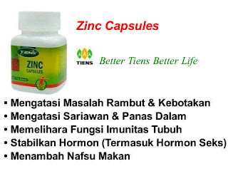 ZINC CAPSULES (PENYEIMBANG)