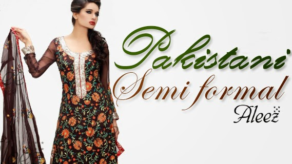 Pakistani Semi Formal Collection For Girls Semi Formal Dresses