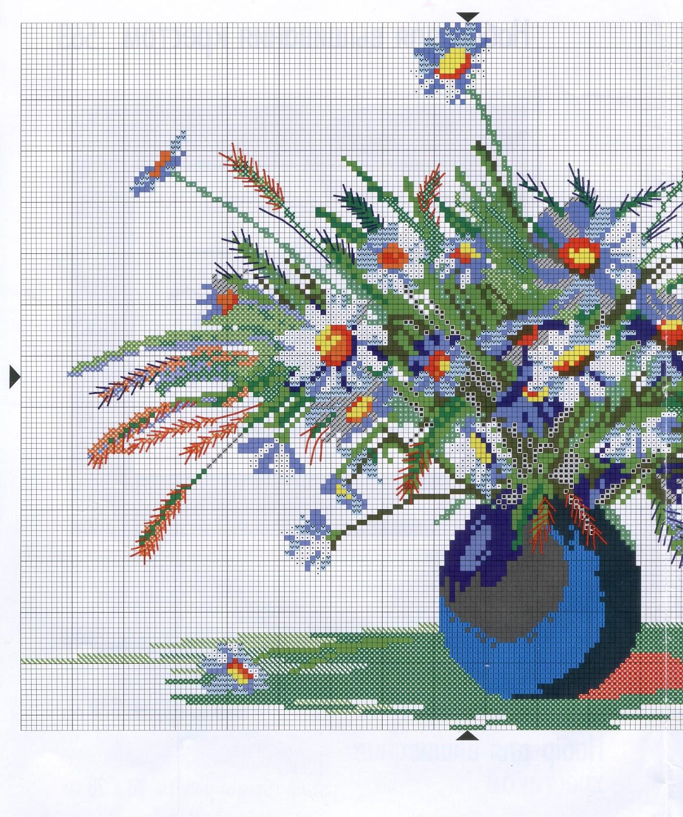 Вышивка полевых цветов 87