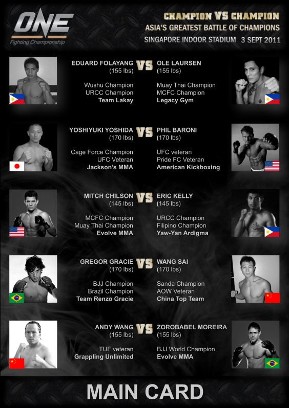 The Official Blog of Evolve MMA: ONE FIGHTING CHAMPIONSHIP!