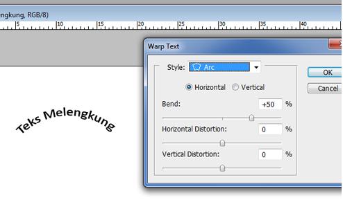 Cara Membuat Tulisan/Teks Melengkung dengan Photoshop Cepat dan Mudah