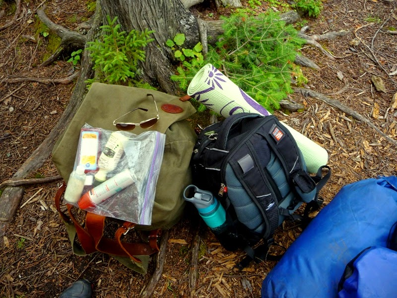 portaging your gear in the BWCAW
