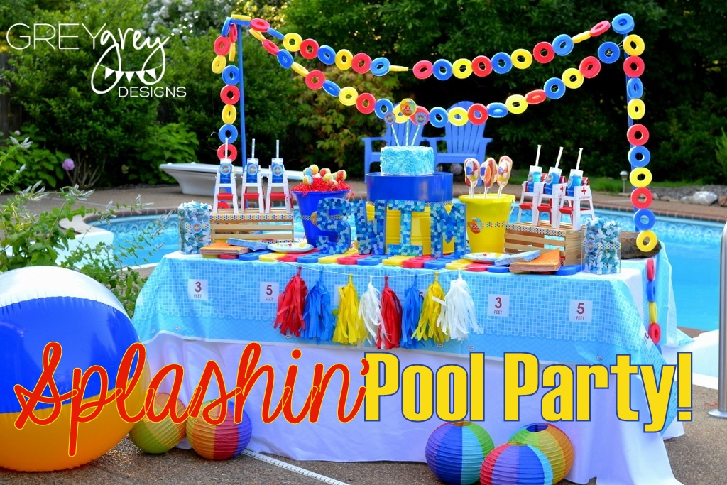 greygrey designs my parties summer pool party by greygrey designs