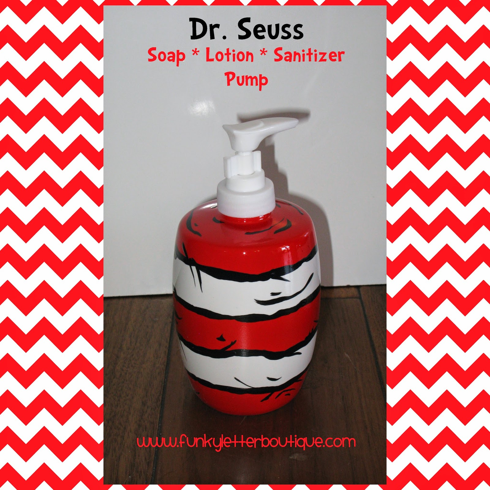 Pottery barn dr seuss shower curtain - Dr Seuss Cat In The Hat Striped Soap Or Lotion Pump