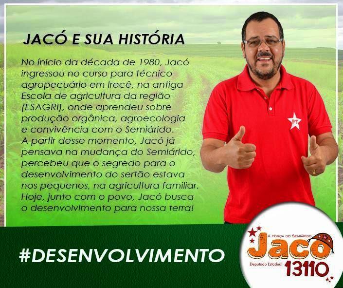 Eleições 2014: Jacó promete ser a voz do sertão baiano