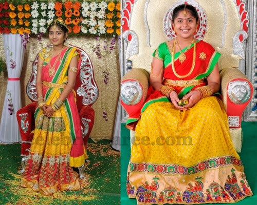 Pretty Half Saree by Vani Kodali