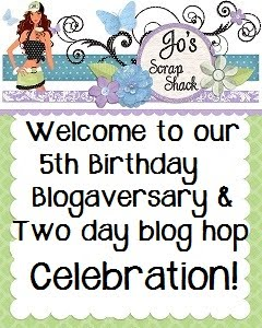 Jo's Scrap Shack 5th Year Blogaversary Blog Hop!