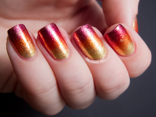 Chalkboard Nails: Sparkle &amp; Smolder Nail Art