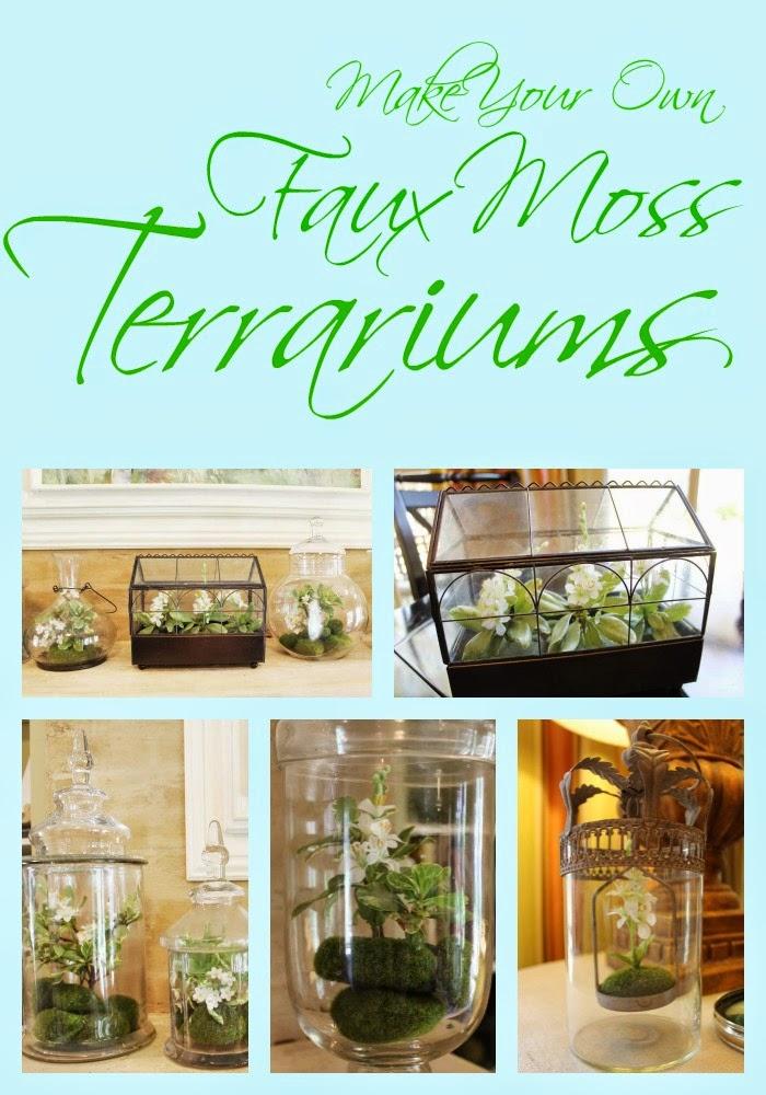 DIY Faux Moss Terrariums - Miss Kopy Kat: DIY Faux Moss Terrariums