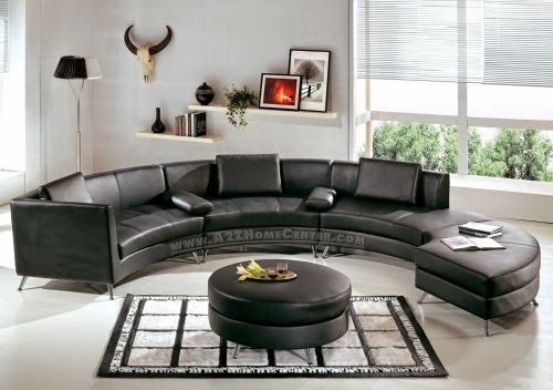 Curved Sofa Leather