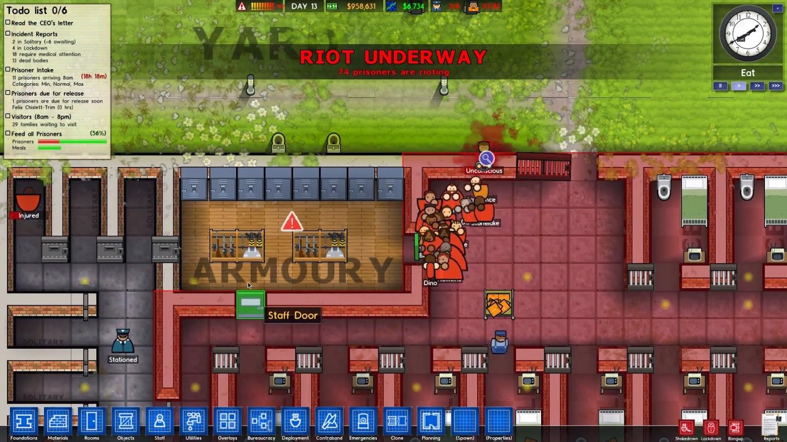 Download prison architect alpha 20 full version game pc mini for Architecture games online free