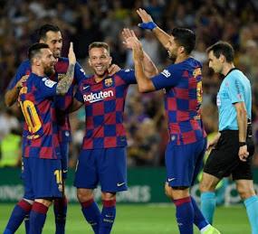 Barcelona derrotó 3-0 al Borussia Dortmund y clasificó a octavos de la Champions