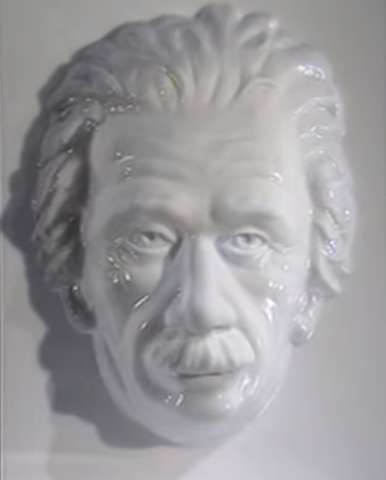 Einstein face illusion
