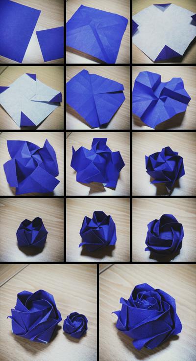 Розы из бумаги своими руками из оригами 43