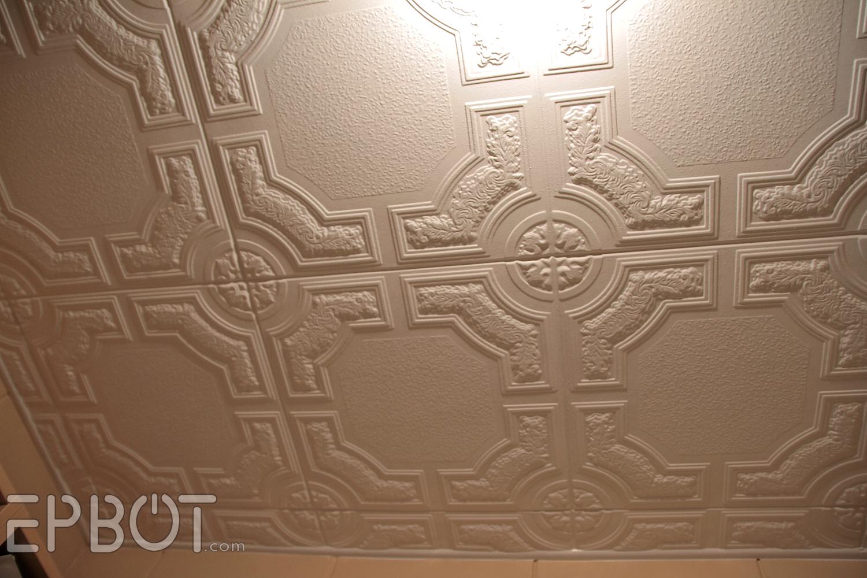 Homemade ceiling tiles