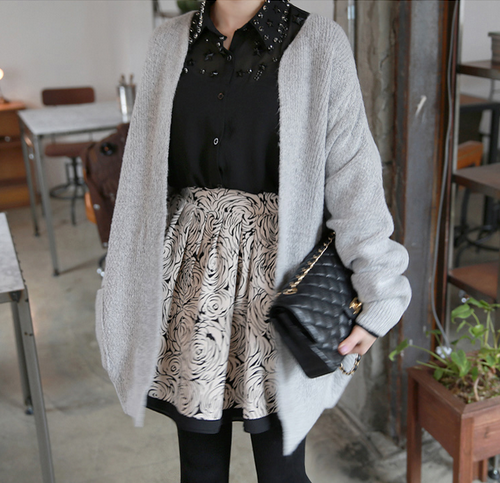 Oversized Long Sleeved Open Cardigan