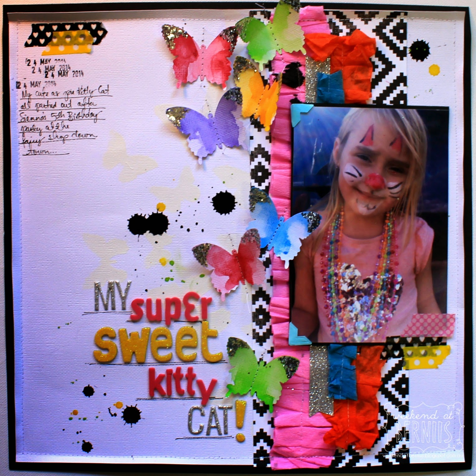 My Super sweet kitty cat layout by Bernii Miller