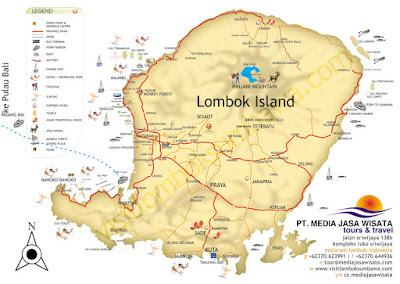 Peta Wisata Lombok