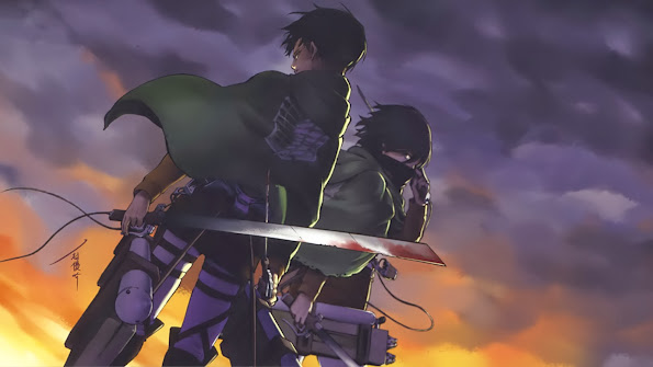 levi mikasa ackerman attack on titan shingeki no kyojin anime hd wallpaper 1920x1080