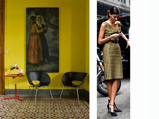 couleur vintage, le moutarde