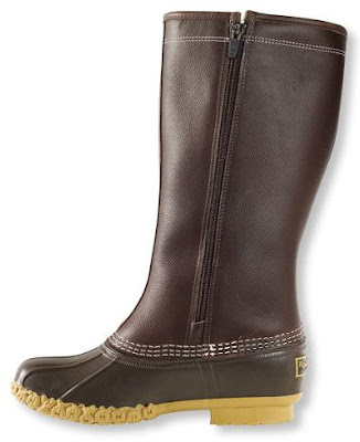 LL Bean Shearling Lined Side Zip Boots