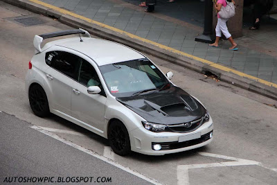 Modified Subaru Impreza WRX STI