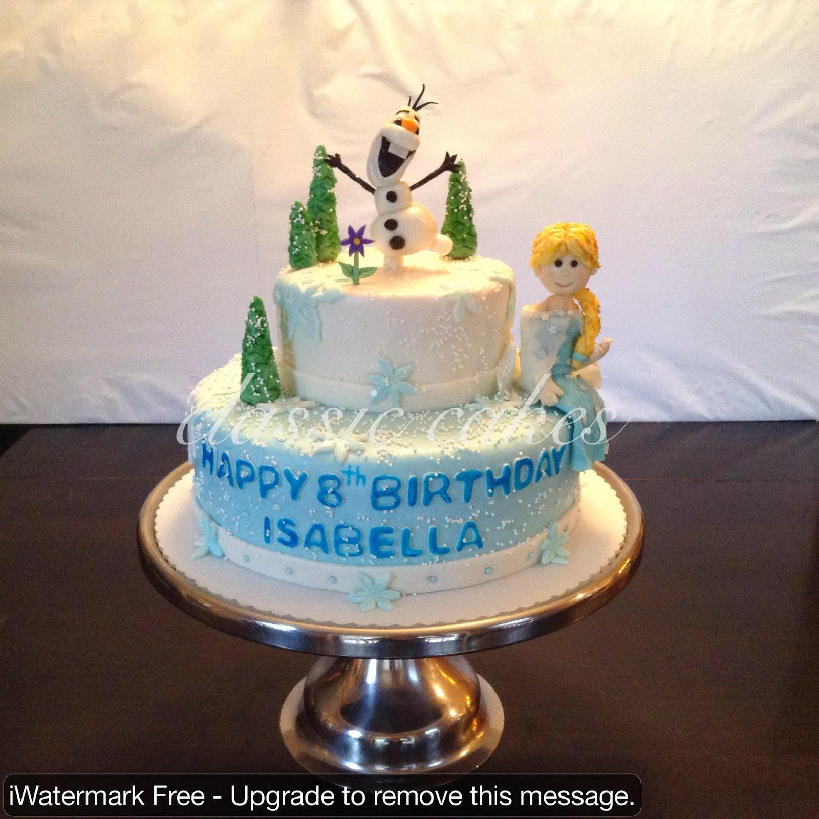 Frozen Movie Birthday Cake