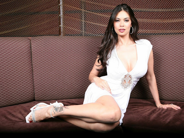 Tera Patrick sexy in white dress