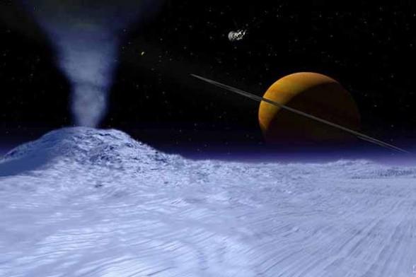 Encelado desde la superficie
