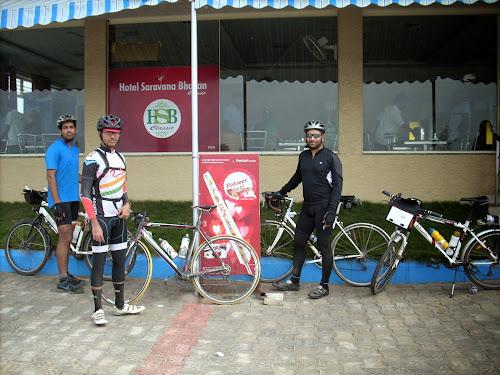 Photo with bicycles at Hotel Saravana Bhavan, Krishnagiri
