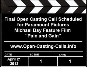 Extras Open Casting Call Pain and Gain in Miami